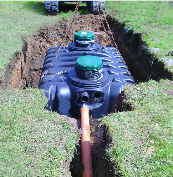 Tricel Vento septic tank installation Depawater