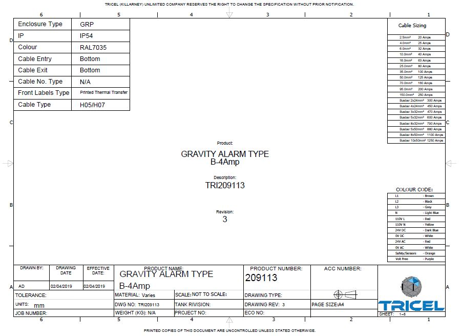 Wiring Diagram – UK Novo – P24, P30 Gravity