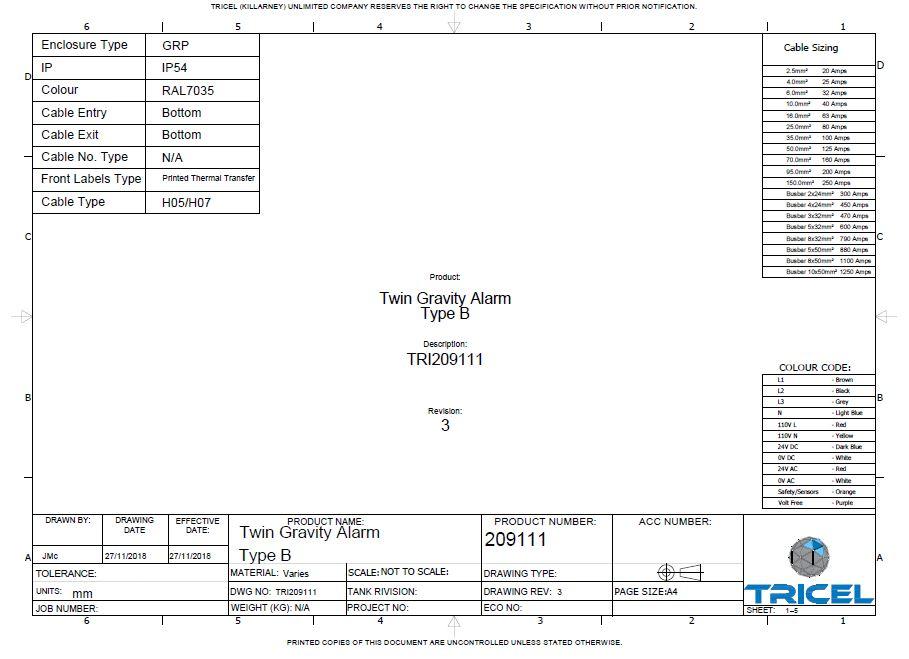 Wiring Diagram – UK Novo – P36, P42, P50 Gravity
